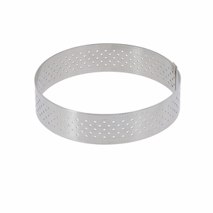 "de Buyer 2-1/2"" Round Stainless Steel Perforated Tart Ring  - 3099.02"