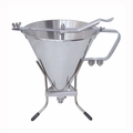 de Buyer 2 Qt. KWIK Pro Stainless Steel Automatic Piston Funnel - 3354.02