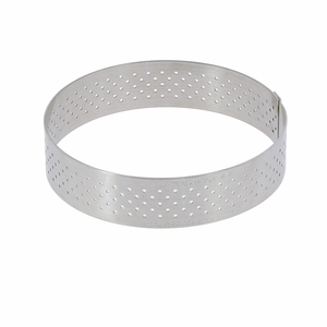 "de Buyer 3-3/8"" Round Stainless Steel Perforated Tart Ring  - 3099.00"