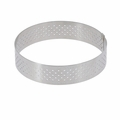 "de Buyer 4-1/8"" Round Stainless Steel Perforated Tart Ring  - 3099.04"