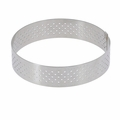 "de Buyer 6-1/8"" Round Stainless Steel Perforated Tart Ring  - 3099.06"
