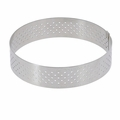 "de Buyer 7-1/4"" Round Stainless Steel Perforated Tart Ring  - 3099.07"