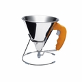 de Buyer .85 Qt. KWIK Automatic Piston Funnel - Orange - 3353.30