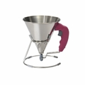 de Buyer .85 Qt. KWIK Automatic Piston Funnel - Pink - 3353.60