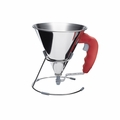 de Buyer .85 Qt. KWIK Automatic Piston Funnel - Red - 3353.40