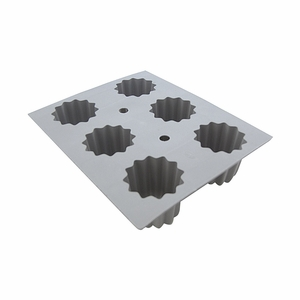 de Buyer Elastomoule 6-Bordelais Fluted Cakes Silicone Mold - 1834.21