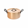 de Buyer Inocuivre 5.7 Qt. Stewpan w/Lid And Cast Iron Handles - 6466.24