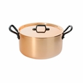 de Buyer Inocuivre 8.45 Qt. Stewpan w/Lid And Cast Iron Handles - 6466.28