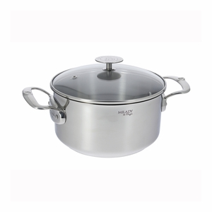 de Buyer Milady 3.2 Qt. Stewpan w/Glass Lid - Stainless Steel - 3427.20