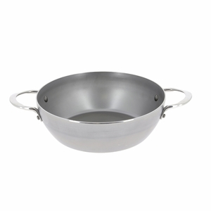 "de Buyer Mineral B Element 12-1/2"" Round Country Chef Frypan w/2 Handles - 5654.32"