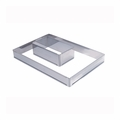 "de Buyer Rectangle Stainless Steel Adjustable Pastry Frame (8-1/2"" x 4-1/2"" x 3"" - 15-3/4"" x 8-1/4"" x 3"") - 3014.21"