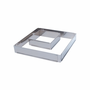 "de Buyer Square Stainless Steel Adjustable Pastry Frame (6-1/4"" x 6-1/4"" x 2"" - 11-7/8"" x 11-7/8"" x 2"") - 3014.16"