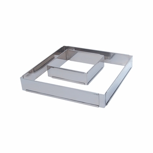 "de Buyer Square Stainless Steel Adjustable Pastry Frame (7-7/8"" x 7-7/8"" x 2"" - 14-1/2"" x 14-1/2"" x 2"") - 3014.20"
