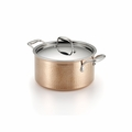Lagostina Martellata Hammered Copper 5-Qt. Covered Stewpot - Q5544664