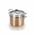 Lagostina Martellata Hammered Copper 6-Qt. Pastaiola Set w/Lid and Pasta Insert - Q5544864