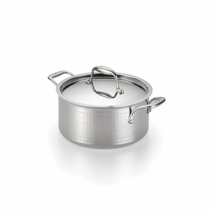 Lagostina Martellata Hammered Stainless Steel 5-Qt. Covered Stewpot - Q5534664