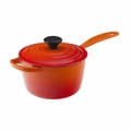 Le Creuset 1 1/2 Qt. Signature Iron Handle Precision Pour Saucepan - Flame - LS2518-162