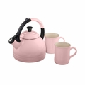 Le Creuset 1.7 qt Peruh Kettle and Mug Set - Hibiscus - Q12-KM3-14