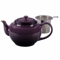 Le Creuset 1 Qt. Large Teapot with Stainless Steel Infuser - Cassis - PG0302SS-1072