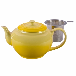 Le Creuset 1 Qt. Large Teapot with Stainless Steel Infuser - Soleil/Sun - PG0302SS-101M