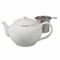 Le Creuset 1 Qt. Large Teapot with Stainless Steel Infuser - White - PG0302SS-1016