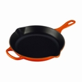 "Le Creuset 10 1/4"" (1 3/4 Qt.) Signature Iron Handle Skillet - Flame - LS2024-262"