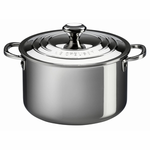 Le Creuset 11 Qt. Stockpot with Lid - Stainless Steel - SSP3100-28