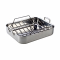 "Le Creuset 14 1/2"" x 10 3/4"" Roasting Pan Set - Stainless Steel - SSC8511-35P"