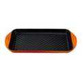 "Le Creuset 15 3/4"" x 9"" x 1"" Extra Large Double Burner Grill - Flame - L2032-402"