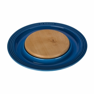 "Le Creuset 15"" Round Platter w/Cutting Board - Marseille - PG6390CB-3759"