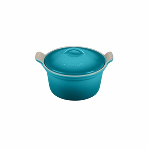 """Le Creuset 18 oz. (6 1/4"""") Heritage Covered Cocotte - Caribbean - PG1560-1317"""