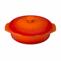 "Le Creuset 2 1/10 Qt. (9 1/2"") Covered Round Casserole - Flame - PG0562S-242"