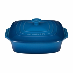"Le Creuset 2 3/4 Qt. (9 1/2"") Covered Square Casserole - Marseille - PG1357S-2459"