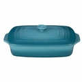 "Le Creuset 3 1/2 Qt. (12 1/2"" x 8 1/2"") Covered Rectangular Casserole - Caribbean - PG1148S-3217"