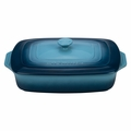"Le Creuset 3 1/2 Qt. (12 1/2"" x 8 1/2"") Covered Rectangular Casserole - Marine - PG1148S3A-326M"