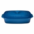 "Le Creuset 3 1/2 Qt. (12 1/2"" x 8 1/2"") Covered Rectangular Casserole - Marseille - PG1148S-3259"