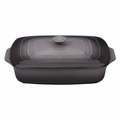 "Le Creuset 3 1/2 Qt. (12 1/2"" x 8 1/2"") Covered Rectangular Casserole - Oyster - PG1148S3A-327F"