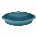 "Le Creuset 3 3/4 Qt. (14"") Covered Oval Casserole - Caribbean - PG1140S-3617"