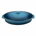"""Le Creuset 3 3/4 Qt. (14"""") Covered Oval Casserole - Marine - PG1140S3A-366M"""