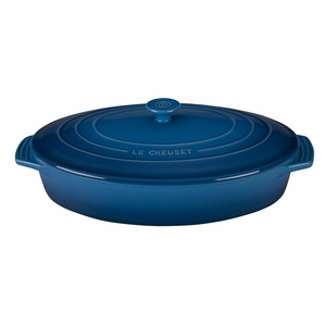 "Le Creuset 3 3/4 Qt. (14"") Covered Oval Casserole - Marseille - PG1140S-3659"