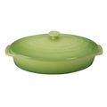 "Le Creuset 3 3/4 Qt. (14"") Covered Oval Casserole - Palm - PG1140S-364P"