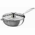 Le Creuset 3.5 Qt. Saucier Pan with Lid & Helper Handle - Stainless Steel - SSP6100-24