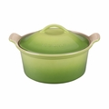 "Le Creuset 3 Qt. (9"") Heritage Covered Round Casserole - Palm - PG0550-234P"