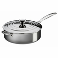 Le Creuset 4.5 Qt. Sauté Pan with Lid & Helper Handle - Stainless Steel - SSP5100-26