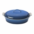 "Le Creuset 4 Qt. (14"") Heritage Covered Oval Casserole - Marseille - PG0405-3659"