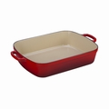 "Le Creuset 5 1/4 Qt. (10"" x 15 3/4"") Signature Rectangular Roaster- Cherry - LS2011-3367"