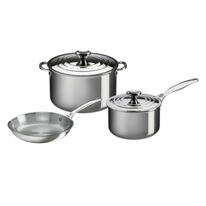 Le Creuset 5 Piece Set- Stainless Steel - SSP14105