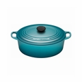 Le Creuset 5 Qt. Signature Oval French Oven - Caribbean - LS2502-2917