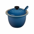 "Le Creuset 6 3/4 oz. (4"") Condiment Pot w/Spoon - Marseille - PG0080CB-1059"