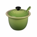 "Le Creuset 6 3/4 oz. (4"") Condiment Pot w/Spoon - Palm - PG0080CB-104P"